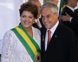 Presidentes Brasil e Chile