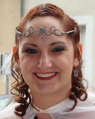diadème Virevolte elfique porté lors d'un mariage