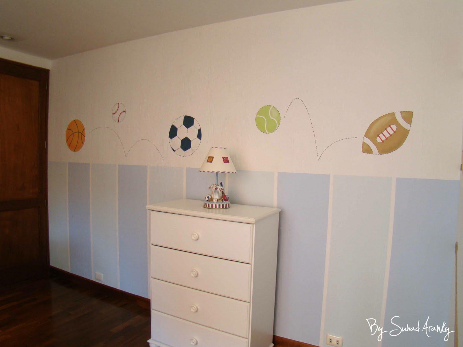 Murales en Dormitorios: Cuarto niño (Pelotas)
