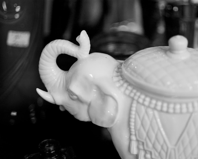 Photo of antique elephant jar