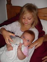 Sophie feeding Evie