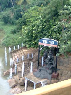 Om Namah Shivaya-an idol of Lord Shiva at the shore of Bharathapuzha at Kuttipuram Malappuram District of Kerala where people used to take holy before going to sabarimala