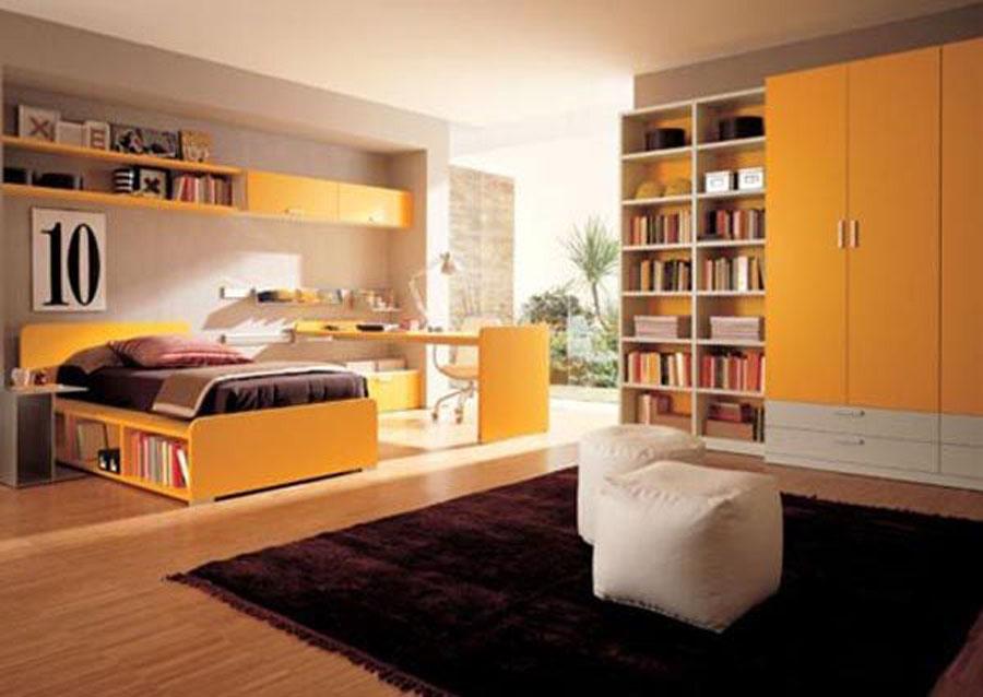 Teen Room Furniture Design In Yellow Teen Bedroom