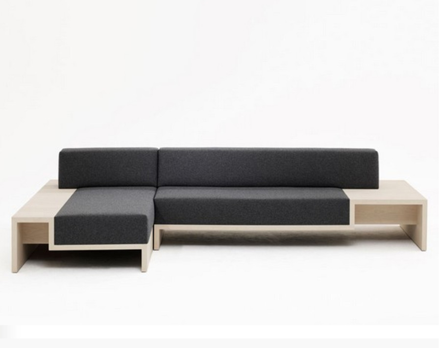 Stylish and practical: modular slow sofa by frederik roije