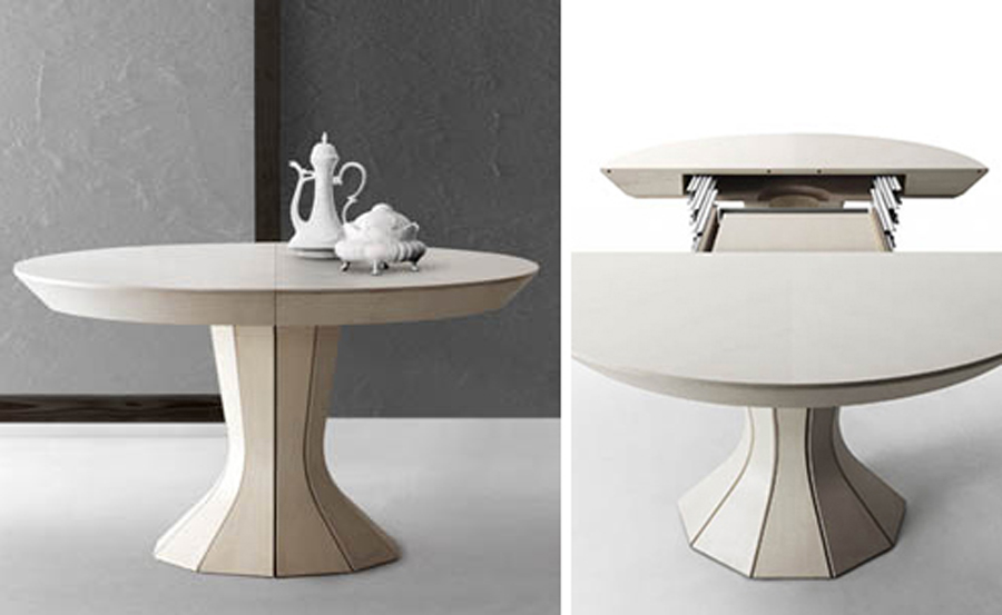 modern opera by bauline round expandable dining table