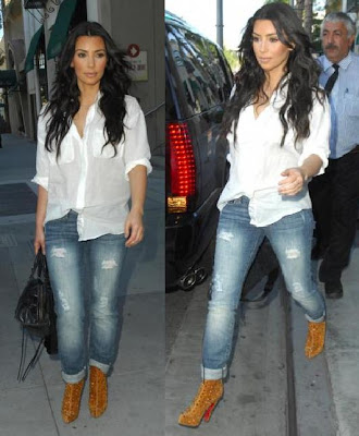 Casual Dress on Kim Kardashian Was Spotted Wearing This Outfit While Leaving The Mall