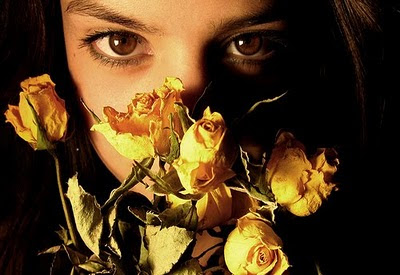 mujer+rostro+flores