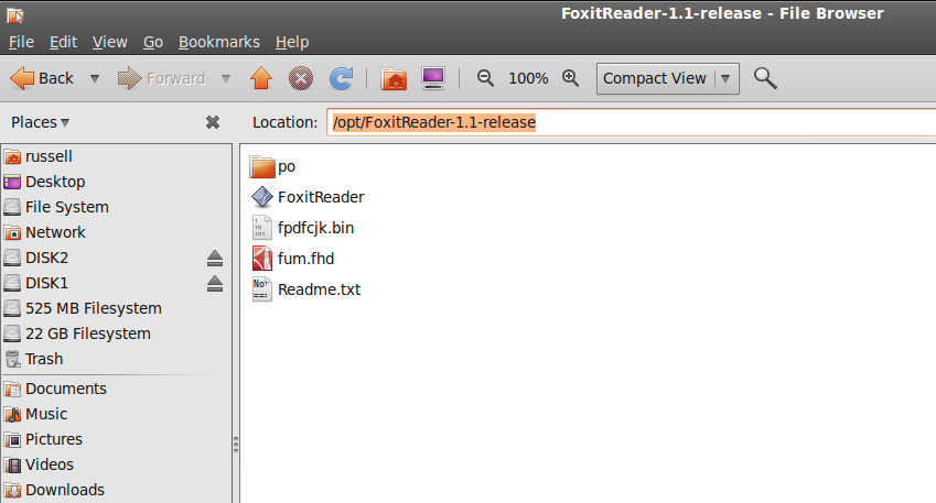 foxit reader for linux