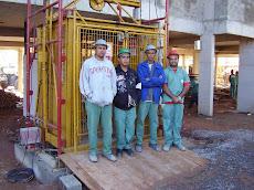 Curso de Op. de Elevador de carga em obra construção civil.