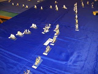 Turn 4 the lead ships of the British columns close of the central allied division