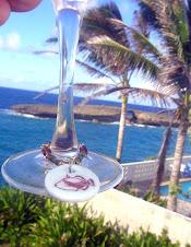 On a wine glass