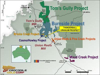 Thunderball Uranium Prospect Location Map