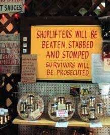 shoplifters will be stomped survivors prosecuted