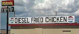diesel fried chicken sign