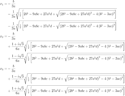 cubic equation solutions