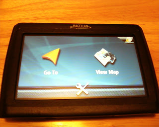 Magellan SE4 GPS Opening Screen