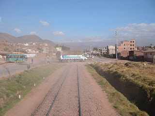 Grade crossing from Andean Explorer