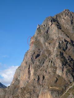 Inca profile on mountain