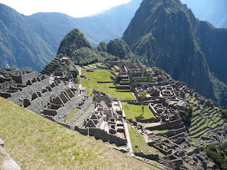 Panaromic view of Machu Picchu