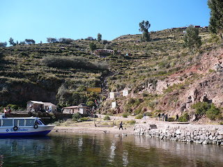 View of Taquile from western dock