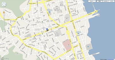 La Hacienda hotel orientation map