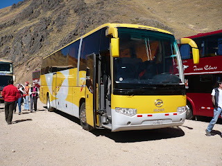 Puno to Cusco bus exterior