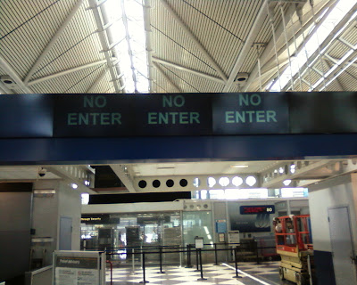 No Enter sign at airport