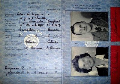Denise Tessier's parents passport