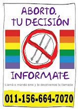 ¿Necesitás información sobre aborto seguro? Llama o mandá SMS a la línea...
