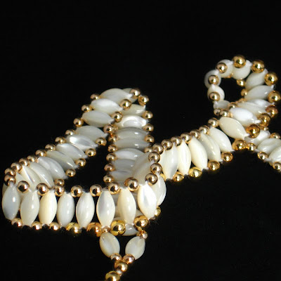 Elegant Handmade Beaded Necklace - Heaven's Ladder
