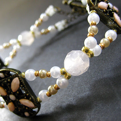 Summer's Cottage Rose Quartz and Pearl Bracelet