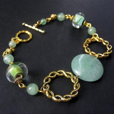 Genuine Aventurine Gemstone Bracelet