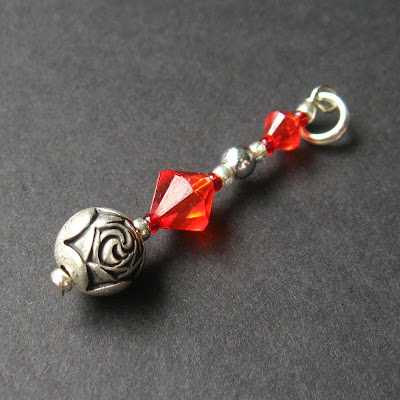 Handmade Keychain - Roses are Red