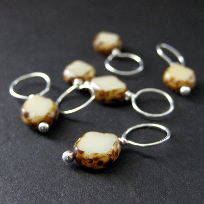 Earthy Eggshell No-Snag Stitch Markers