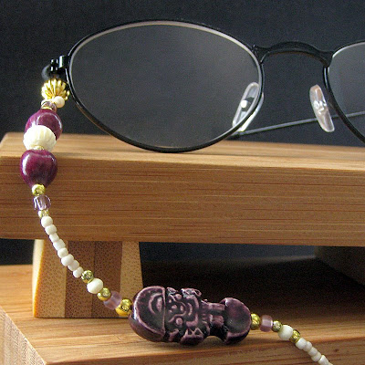 Ceramic Tiki Man Eyeglass Holder