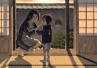 Uchiha Mikoto And Sasuke
