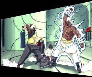 Darui, Raikage Vs Sasuke