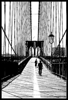 brooklyn bridge sketch photo