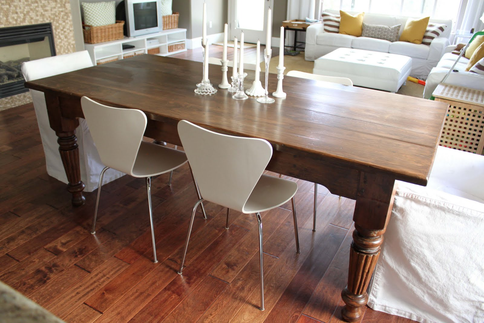 craigslist dining table…before & after.