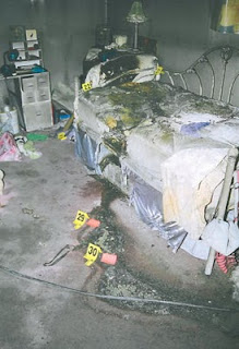 Michaela bed after her body was removed