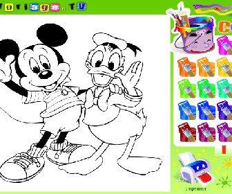 Pintar a Donald y Mickey Juegos Disney y princesas