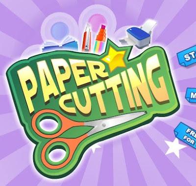Juego de cortar y diseños de papel