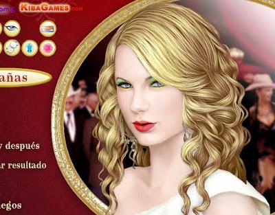 Peinar y maquillar a Taylor Swift