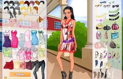 Juego para vestir y peinar a la chica fashion