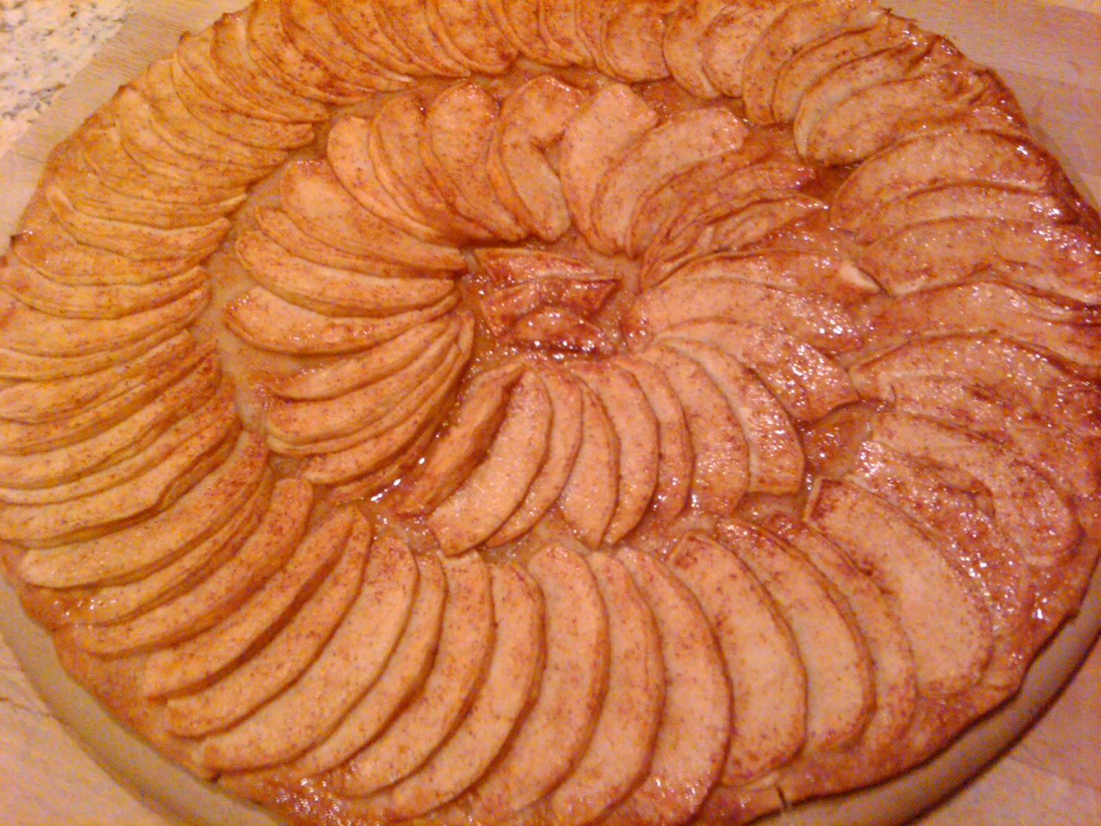 Thin French Apple Tart Recipe (adapted from myrecipes.com )