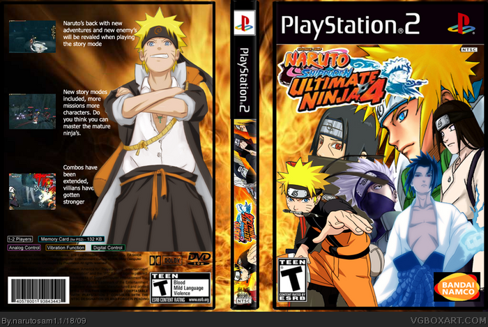 Naruto Shippuden: Ultimate Ninja 4 [PS2] [NTSC] [MU]
