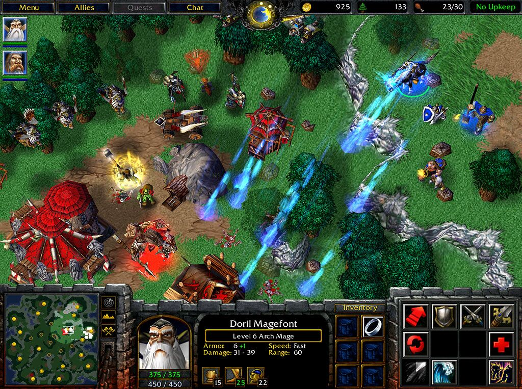 Warcraft iii expansión reign of chaos the frozen throne