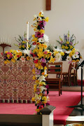 Easter Flowers and Altar