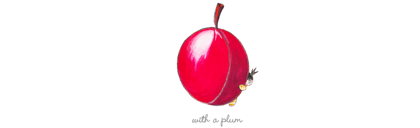 With a Plum
