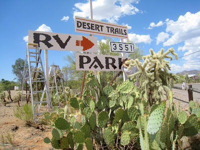 That Which Is Good Desert Trails Rv Park New Signs